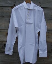 CIVIL WAR WHITE MUSLIN  SHIRT WITH CLEAR BUTTONS  LARGE