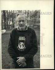 """Press Photo Francis """"Frank"""" Carver from Trumansburg, New York in Closeup"""