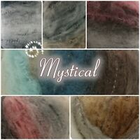 Sirdar MYSTICAL Fluffy Metallic Colour Super Chunky Knitting Wool Yarn 100g