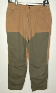 Browning Brush Guard Hunting Pants Mens Brown Heavy Canvas Actual 34x28