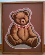Brown Bear Cross Stitch Finished and Framed Needle Work