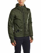 G-Star Raw Mens 83154F Submarine Hooded Jacket Forest Night Green Small RRP £175