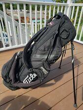 New listing Titleist Golf  Black Stand Bag. Light Weight -3 Way Black