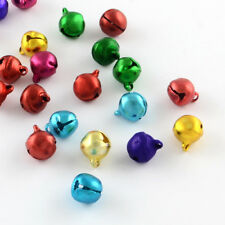 1000PCS Aluminum Jingle Bell Charms Beads For Craft Making Decoration MixedColor