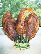 Adler Figur aus Speckstein Höhe ca. 22 cm dunkel Braun