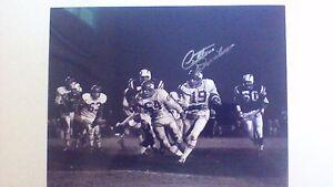 "1960 Dallas Texans QB great Cotton Davidson signed 11x14 ""1st QB"" with COA"