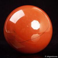 577g 73mm Large Natural Red Jasper Quartz Crystal Sphere Healing Ball Chakra