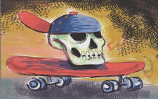 3394-Award winning artist George Kocar Digital Drawing, Skull on Skateboard