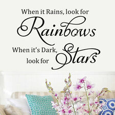 Huge When It Rains Quotes Vinyl Wall Home Decor Mural Decal Sticker Paper Art