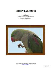 GREEN PARROT #2 - cross stitch chart