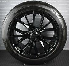 "FOUR Genuine Range Rover Sport SVR 21"" Alloy Wheels Michelin Tyres Gloss Black"