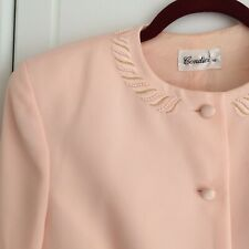 Vintage Formal Condici Pink/Coral Blazer And Skirt Suit