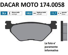 174.0058 PLAQUETTE DE FREIN ORIGINAL POLINI YAMAHA : T MAX 500 Carburateur