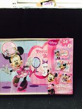 Disney Minnie Mouse Wood Puzzle Box Set 3 in wood box - NIB