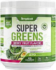 Amplicell Natural Super Greens Powder Premium Superfood - 455g Super Food
