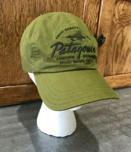 EUC Patagonia Roger That Hat Baseball Cap Green Fly Fishing Angling Outfitters