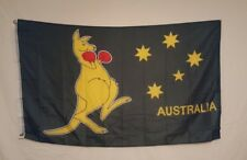 Australian Flag Boxing Kangaroo 5 x 3 Foot Australia With Eyelets