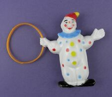 Original c1960s Vintage Clown with Hoop Cake Topper Decoration, Old Unused Stock