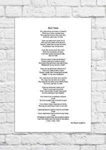 Still I Rise by Maya Angelou - Poem - A4 Size