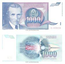 Yugoslavia 1000 Dinara 1991 P-110 Banknotes UNC