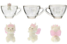 DISNEY MARIE GLASS TEA CUP & FIGURINE JAPAN EXCLUSIVE THE ARISTOCATS MUG TEACUP
