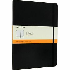MOLESKINE - Black XL Ruled Notebook, Soft Cover, 192 pages