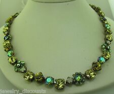 Sorrelli Green Apple Necklace NBE2AGGA Antique gold  tone