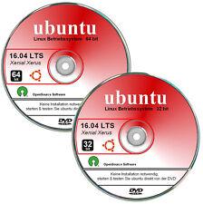 ubuntu 16.04 LTS deutsch, 32+64 bit DVD`s, 2 DVDs