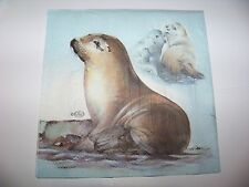 4 Servietten Ebba und Fietje Seehunde super süße maritim Napkins