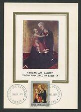 VATICAN MK 1971 GEMÄLDE MADONNA JESUS ART MAXIMUMKARTE MAXIMUM CARD MC CM c9250