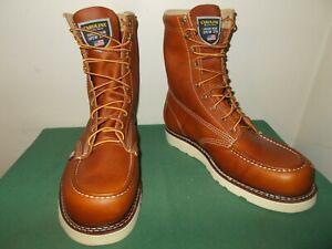 Mens 9.5 EE Carolina 8 Inch Moc Toe Wedge Work Boot USA Made CA7002 Leather NEW