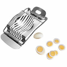 Stainless Steel Metal Boiled Egg Slicer Section Cut Cutter Mushroom Kitchen Chop