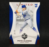 #/50! 🚨 2019 Panini Limited Pete Alonso RC New York Mets Rookie Red Ink #1