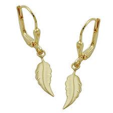 Echter Edelmetall-Ohrschmuck ohne Steine im Hänger-Stil aus Gelbgold für Damen