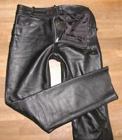 "STARK: LOUIS Herren- LEDERJEANS / Biker- Lederhose in schwarz ca. W34"" /L36"""