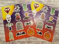 24 Halloween Stickers, 2 Sheets, Halloween Party Decoration, Fun Stickers, Bats