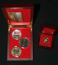 1930 Penny's by SSB mint, silver/gold/copper & Golden Fleece coins display boxes