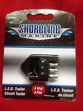 CIRCUIT TESTER 4 WAY LED TRAILER WIRING LIGHTS TESTER Shoreline Marine SL52297