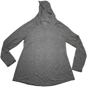 """OLD NAVY ACTIVE Women's Hooded Sweater Sz XL Gray """"Semi Fitted"""" Running Hoodie"""