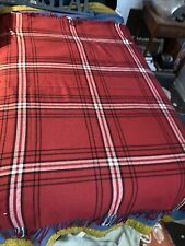 isaac mizrahi Plaid Blenket Red
