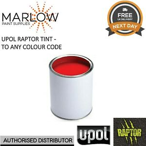 400ML TINT COLOUR FOR UPOL RAPTOR BED LINER - ANY COLOUR CODE AVAILABLE