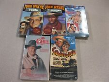 5 John Wayne Westerns VHS new factory sealed