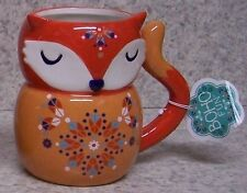 Coffee Mug BOHO Bohemian Red Fox NEW 14 ounce cup with gift box