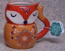 Coffee Mug BOHO Bohemian Red Fox NEW 14 ounce cup with gift box