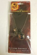 """The Hunger Games Movie Necklace Single Chain """"Katniss Distri"""