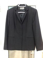 LADIES BLACK JACKET BY JAEGER CONCEALED FRONT BUTTONS UK 14