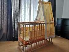 Babybett Schaukenfunktion Bremsrollen Gitterbett Komplett Set