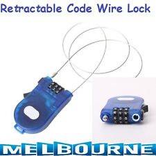 Fancy Retractable Code Combination Lock Steel Cable Wire Bike Luggage Safety