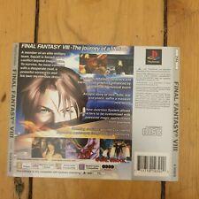 Final Fantasy 8 VIII - Sony PlayStation One PS1 Rear Inlay Artwork
