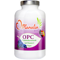 OPC Traubenkernextrakt mit Vitamin C 950mg Tagesdosis |180 vegan Kapseln |